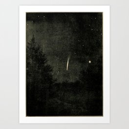 Lucas Albert Reed - Astronomy and the Bible (1919) - Brooks' Comet, as Seen Just Before Dawn Art Print