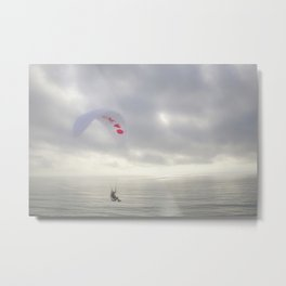 """Paraglider 4"" by Murray Bolesta Metal Print"
