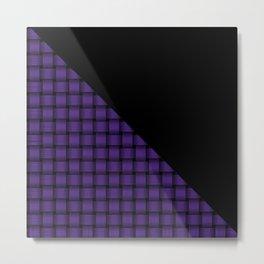 Black and American Purple Weave Pattern Metal Print