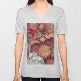 517 - Flowers Unisex V-Neck