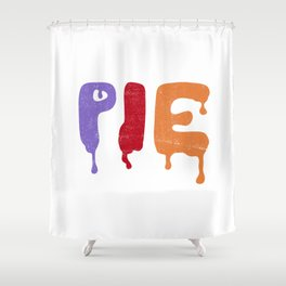Pie Shower Curtain