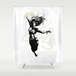 Flying Lasso Shower Curtain