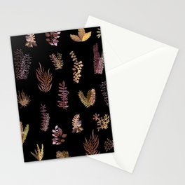 Autumn Garden at Night Stationery Cards