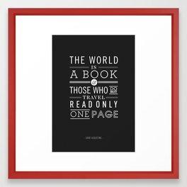 Type Poster - Saint Augustine Framed Art Print