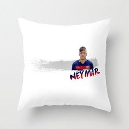 neymar jr Throw Pillow