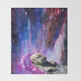 space otter Throw Blanket