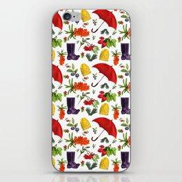 Watercolor autumn essentials iPhone Skin