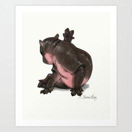 HippoCat Art Print