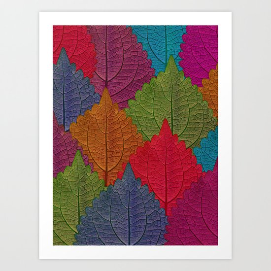 Leaves Forest Art Print