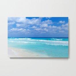 Cancun beach Metal Print