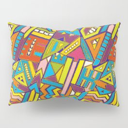 Colorful Geometric African Tribal Pattern Pillow Sham