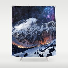 Mountain CALM IN space view Shower Curtain