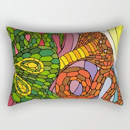 Clashing Cobras Rectangular Pillow
