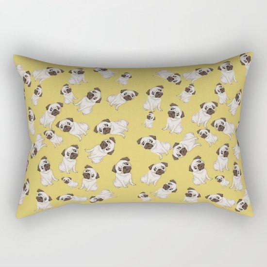 Pug Pattern  Rectangular Pillow
