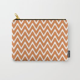 Orange Peel Southern Cottage Ikat Chevrons Carry-All Pouch