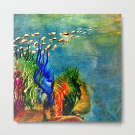 Fish Swarm Metal Print