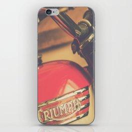 Vintage Triumph Bonneville Motorcycle iPhone Skin