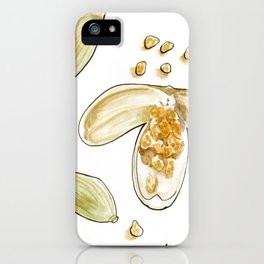 tea botanicals   Cardamom // chai iPhone Case