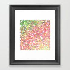 Confetti Colors Framed Art Print