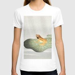 Ohara Koson, Frog On Lotus Leaf - Vintage Japanese Woodblock Print Art T-shirt