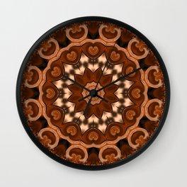 Copper kaleidoscope of colors II Wall Clock