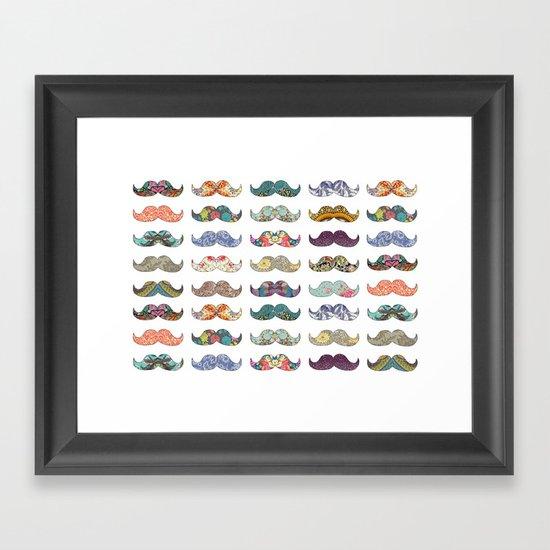 Mustache Mania Framed Art Print