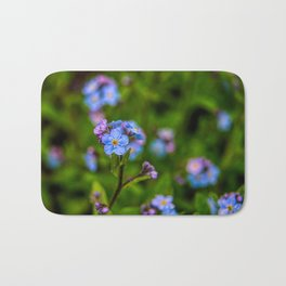 Forget-me-nots In The Rain Bath Mat