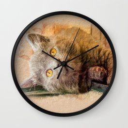 KITTEN RELAX Wall Clock