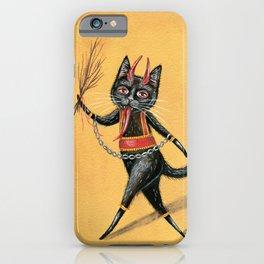 Krampus cat iPhone Case
