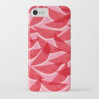 georgiana paraschiv iPhone & iPod Cases featuring Watermelon by Georgiana Paraschiv