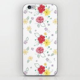 Red and Yellow Floral iPhone Skin