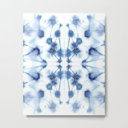 Mirror Dye Blue Metal Print