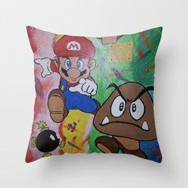 Mushroom World Throw Pillow