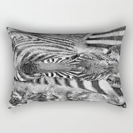 AnimalArtBW_Zebra_20170702_by_JAMColorsSpecial Rectangular Pillow