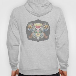 Real Cross Stitchable Pattern -- Renaissance Floral Color Coded Chart Hoody