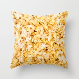 Popcorn Mania Throw Pillow