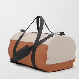Minimalist Solid Color Block 1 in Putty and Clay Duffle Bag