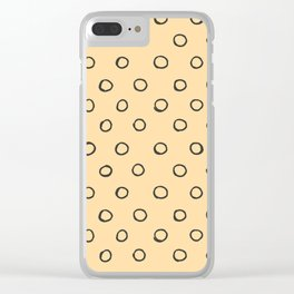Hand painted black cape honey yellow polka dots pattern Clear iPhone Case