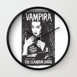 Vampira - The Glamour Ghoul Wall Clock