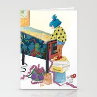 gamer Stationery Cards featuring Gamer  by Lesley Vamos