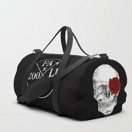 Rose Skull Black Duffle Bag