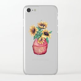Sunflower Vase Clear iPhone Case