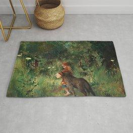 Little Red Riding Hood - Carl Larsson 1881 Rug