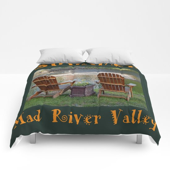 Summer By the River in the Mad River Valley, Vermont Comforters