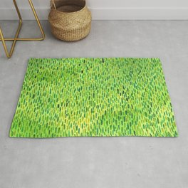 Watercolor Grass Pattern Green by Robayre Rug