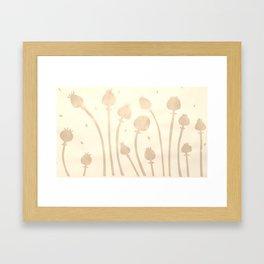 Poppy Seed Heads Screen Print Framed Art Print