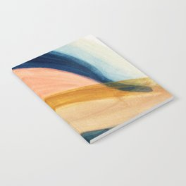 Slow as the Mississippi - Acrylic abstract with pink, blue, and brown Notebook