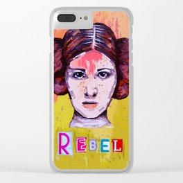 Rebel Princess Clear iPhone Case