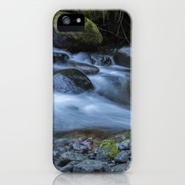 Water, Moss and Rocks iPhone Case