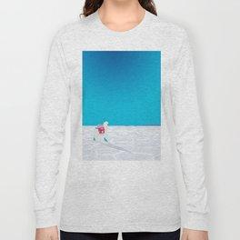 Llama on the Bolivia Salt Flats, Salar de Uyuni Long Sleeve T-shirt